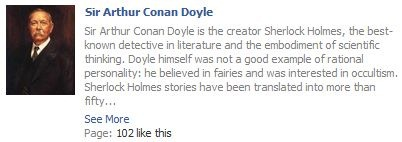 Sir Arthur Conan Doyle on Facebook