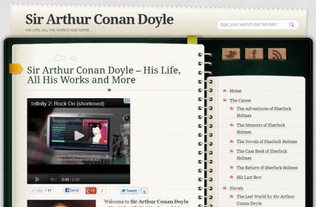 Diary theme on sirconandoyle.com