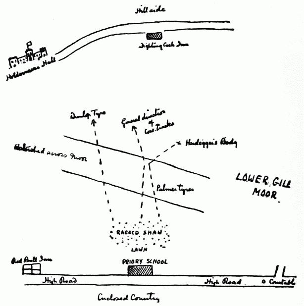 HOLMES' MAP OF THE NEIGHBORHOOD OF THE SCHOOL.