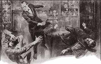 THERE WAS A CRASH AS HOLMES' PISTOL CAME DOWN ON THE MAN'S HEAD.